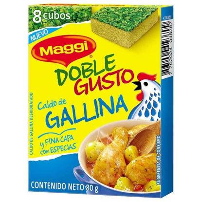 Imagen de CALDO DE GALLINA DOBLE GUSTO MAGGI 80 GR.