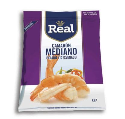 Imagen de REAL CAMARON MEDIANO PELADO Y DESVENADO 454 GR