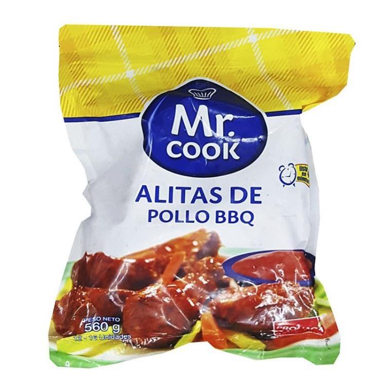 Imagen de MR COOK ALITAS DE POLLO BBQ 560 GR