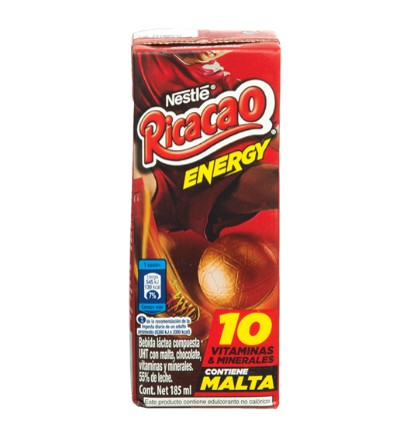 Imagen de RICACAO ENERGY LECHE CHOCOLATE 185 ML.