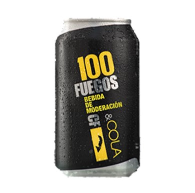 Imagen de RON 100 FUEGOS CARIBBEAN GOLD & COLA 310ML