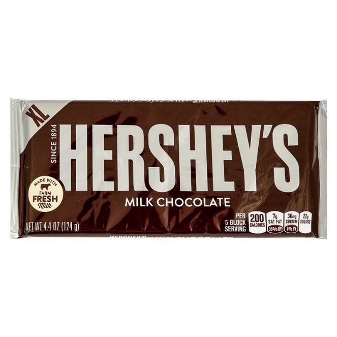 Imagen de HERSHEYS XL MILK CHOCOLATE 124 GR