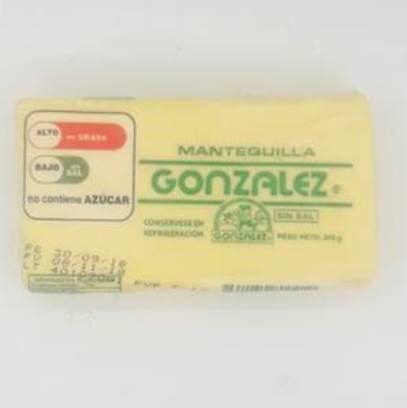 Imagen de MANTEQUILA GONZALES SIN SAL 100 GR