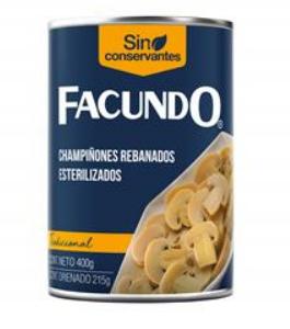 Imagen de CHAMPIÑONES REBANADOS FAC 400 g.
